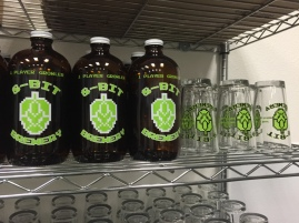 Growlers and pints for purchase