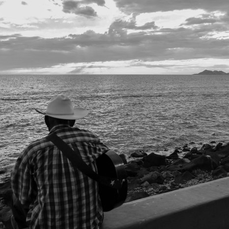 An old man with nothing left but his songs and the sea.