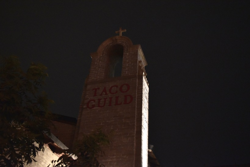 This picture makes Taco Guild look a little creepy but I assure you it's not. Unless you're creeped out by yummy food.