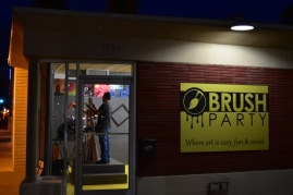 I had no idea this was here. Brush Party is a place to paint and socialize with others. It's also a BYOB establishment. On the east side Central north of Roosevelt.