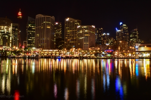 The view from Darling Harbour.