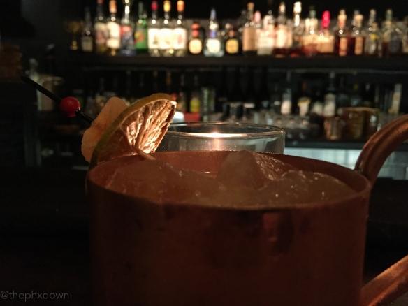 A drink inside Eau de Vie.