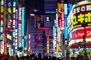 Godzilla Road, Shinjuku.