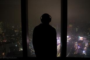 Tokyo below.