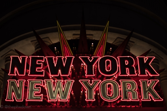 Black over white at New York New York