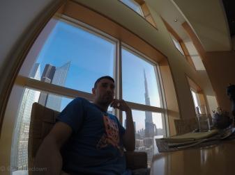 Dinner in the shadow of the Burj Khalifa.