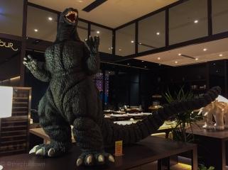Guarding the lobby.