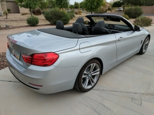 BMW 430i convertible.