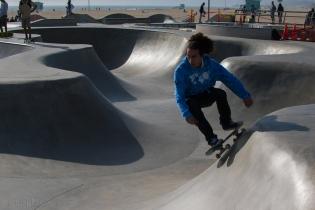 Skateboarder in Venice.