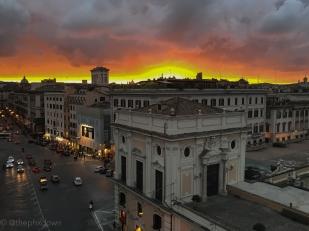 Roman sunset.