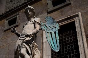 Metal winged angel.