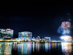 Tempe Town Lake. July fourth.